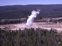 Old Faithful as seen from Observation Point