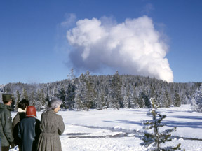 Steamboat Geyser - Dec 25, 1962