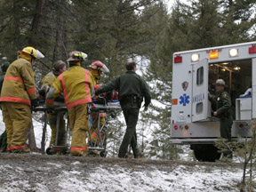 Rangers respond to auto accident in Yellowstone