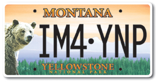 Yellowstone Specialty License Plate